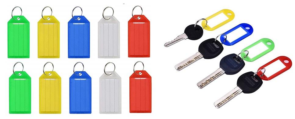 llaveros con identificador, etiquetas para llaves numéricas, llaveros anillo, llaveros de colores con etiquetas, etiquetas para llaves, llaveros de plástico para llaves