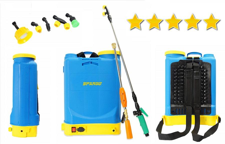 Rociador Spray 16 L Litro Botella 12V pulverizador de mochila electrico, pulverizador a batería el mejor