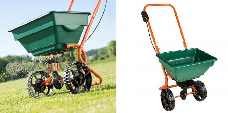 carro sembrador TecTake, sembradora manual de maiz, Plantadora manual de acero inoxidable, Plantador de bulbos, Plantador de punta, Sembradora de carro, sembradora de maíz