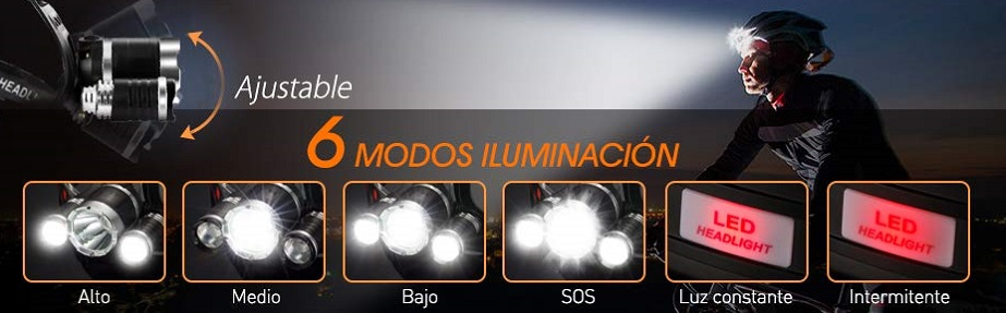 luz frontal amazon, luz frontal decathlon, luz frontal bici, luz frontal bicicleta, luz frontal running, luz frontal cabeza