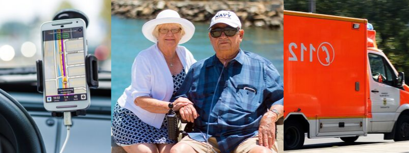 ancianos con un botón de sos, pulsera emergencia ancianos, pulsera para personas mayores