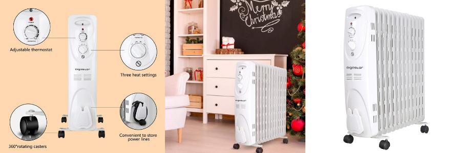 Warm Snow 33JHF, calefactor eléctrico bajo consumo, calefactor a gas o electrico, calefactor convector