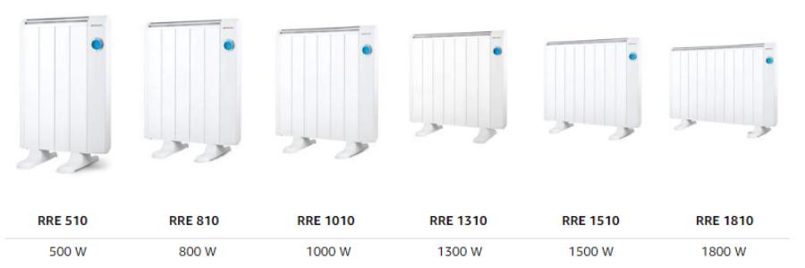 RRE 510, RRE 810, RRE 1010, RRE 1310, RRE 1510, RRE 1810, calefactor eléctrico a+++, calefactor eléctrico el corte ingles, calefactor eléctrico Amazon,