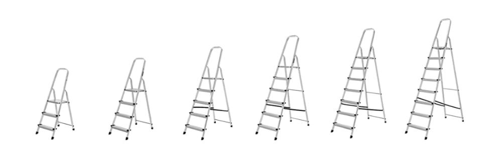 Escalera de Tijera de Aluminio, escalera de mano plegable, escalera de mano aluminio, escalera de aluminio fija, peldaños de una escalera de aluminio de mano