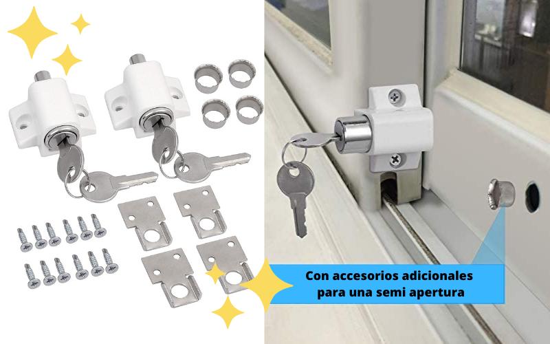 El mejor seguro para ventana corredera de Aluminio con llave eSynic, el mejor cierre de seguridad para ventanas de aluminio